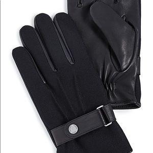 POLO RALPH LAUREN Wool Melton Hybrid Leather 3M touchscreen gloves